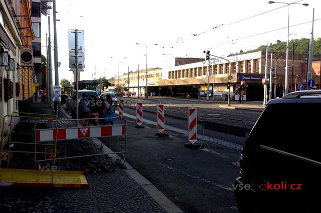 rekonstrukce ulice u Knížecí