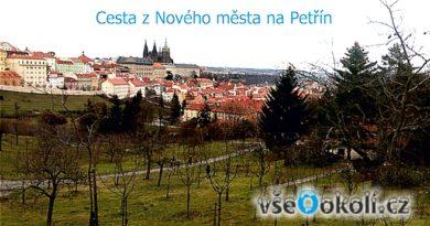 Pohled na Pražský hrad od cesty na Petřín.