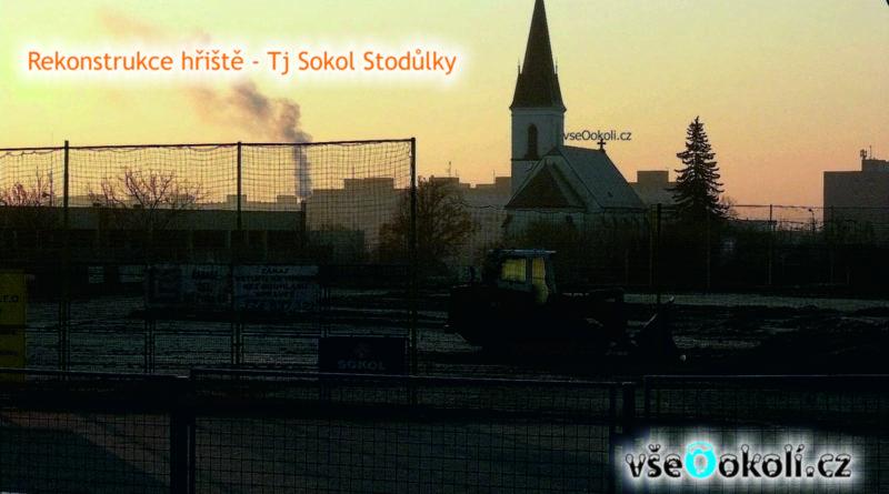 Sokol Stodůlky rekonstrukce hřiště.