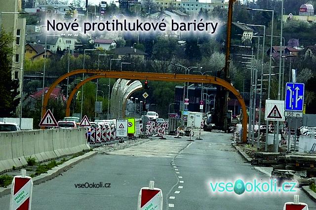 Praha 6 - Řepy se staví nová bariéry pro hluku od aut.