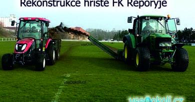Výměna trávníku a stavba nové terasy v areálu fotbalového klubu Řeporyje.