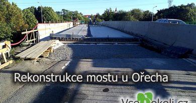 Rekonstrukce mostu přes Pražský okruh.