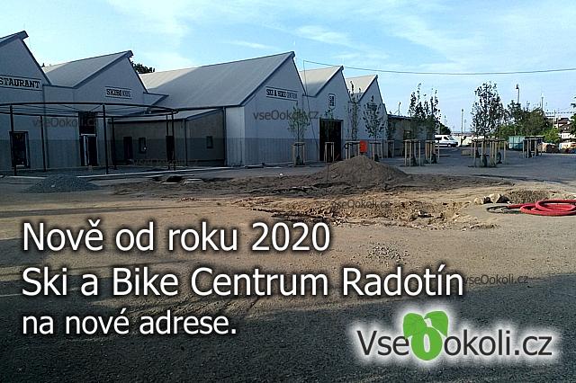 Od roku 2020 se bude Ski a Bike Centrum Radotín bude nacházet vedle vlakového nádraží.