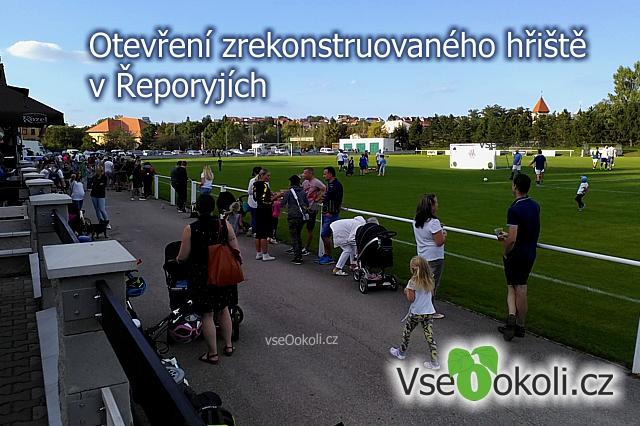 Fk Řeporyje otevření nové trávy a tribuny.