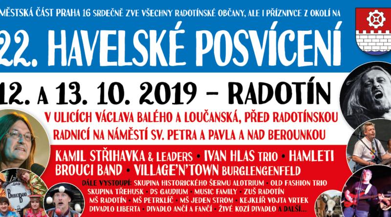 12 - 13. 10 se v Praze 16 uskuteční v Radotíně Jarmark společně s Havlovým posvícení.