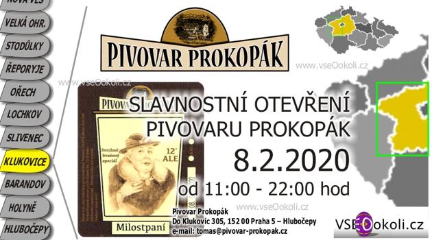 Pivovar Prokopák je v Prokopdkém údolí v Klukovice Praha 5