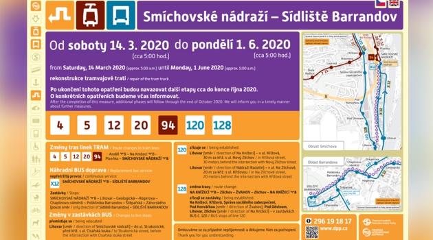 Náhradní autobusy 120 a 128 povedou i přes oblast Prahy 5 Zlíchov.