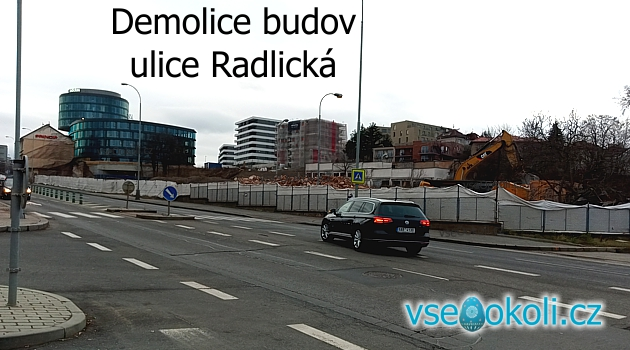 Praha 5 Jinonice a Radlice demolice starých budov.