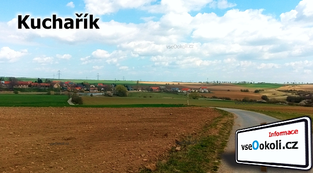 Kuchařík, obec s větším rybníkem a krásným výhledem z kopce do okolí.