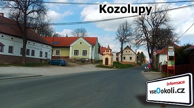 Kaplička, náměstí a autobusová zastvávka Vysoký Újezd, Kozolupy. Praha . západ.