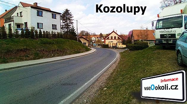 Kozolupy sousedí s obcemi patřící pod Praha - západ a to s Bubovice, Lužce, Trněný Újezd, Mořinba a Dolní Roblín.