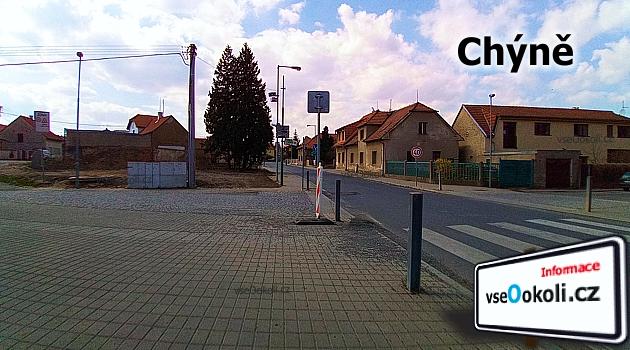 Praha - západ, náměsti v obci Chýně, Sousedící obce jsou Chrášťany, Břve, Ptice, Řervený újezd, Úhonice, Hostivice a Litovice.