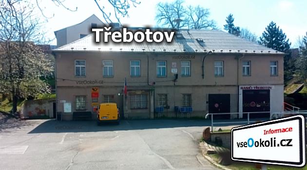 Obec Třebotov a zdejší hasičská zbrojnice v budově obecního úřadu a počty
