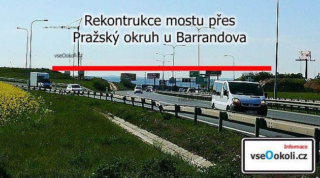 Most se nachází u Barrandova Praha 5 a kousek od Slivcence přes Pražský okruh.