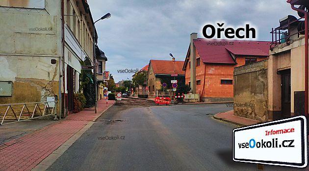 Ořech leží na hranici Prahy 5 a vedlejšími obci jsou Řeporyje, Zbuzany, V Lišcích, Zmrzlík, Zadní Kopanina, Choteč a Chýnice.