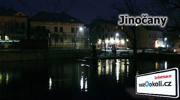 Obec Jinočany Praha - západ protíná ulice Nám. 5. května.