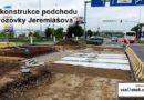 Rekonstrukce podchodu a vozovky Jeremiášova.
