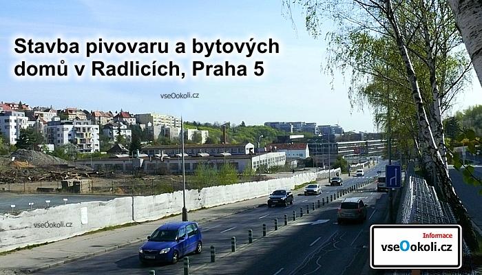 Byty budou napojeny na Waltrovku. Koplex radlice s ebud nacházet při ulici Radlická.