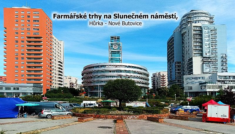 Trhy na Slunečném náměstí Hůrka a Nové Butovice na Praze 13, se konají každý pondělí.