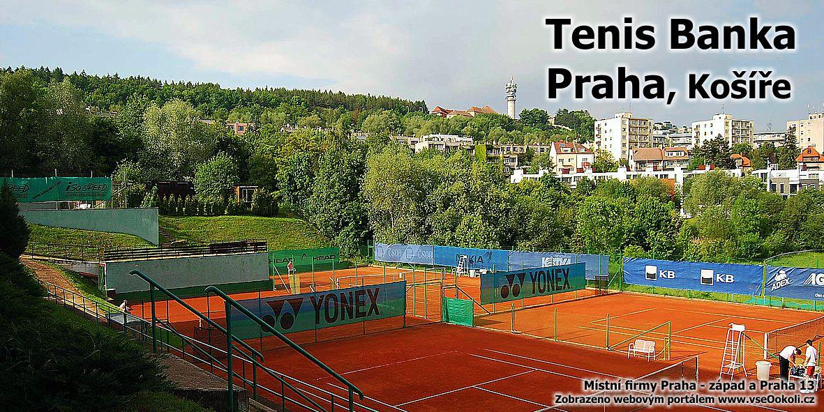Kousek od Vypichu a Motolu se nachází tenisový areál. Tenis banka Praha, Košíře