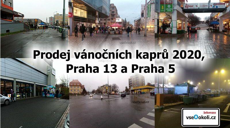 Prodej vánočních kaprů na Praze 13 a Praze 5