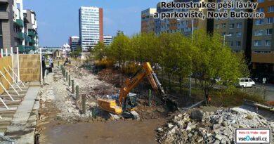 Demolice a následná stavba čeká lávk apro pěší na Butovicích tedy na Praze 13.