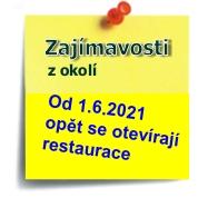 otevírání restaurací od 1.6.2021