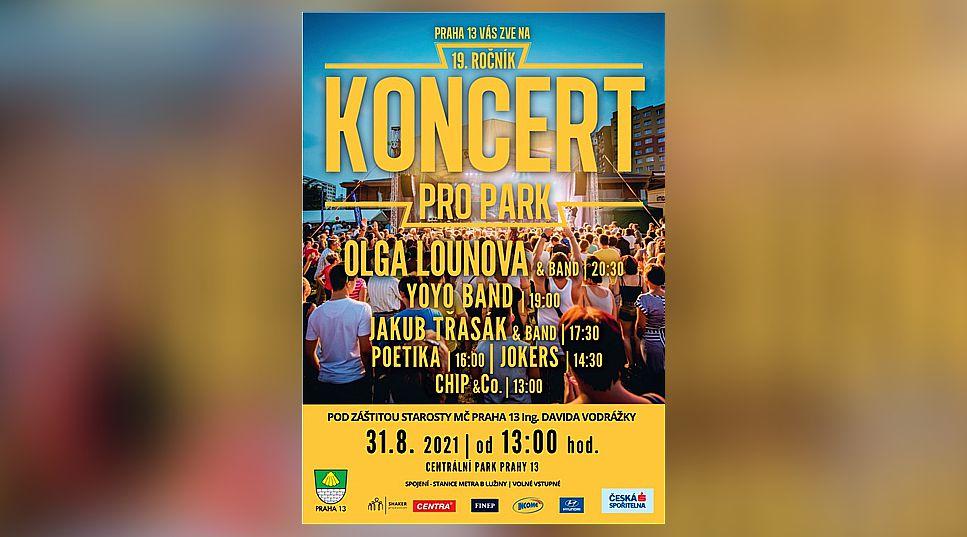 Koncert pro park na Lužinách. YOYO BAND, Olga Lounová a mnoho dalších